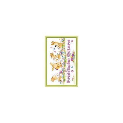 """SUSY CARD Oster-Grußkarte """"spielende Hasen"""""""