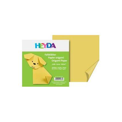 HEYDA Origami Faltblätter, (B)150 x (H)150 mm, gelb