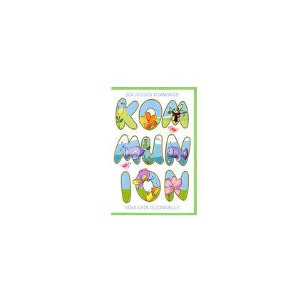 HORN Kommunionskarte - Schriftgestaltung - inkl. Umschlag