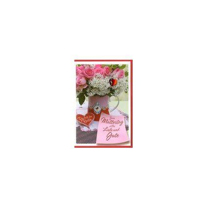 HORN Muttertagskarte - Rosa Rosen - inkl. Umschlag