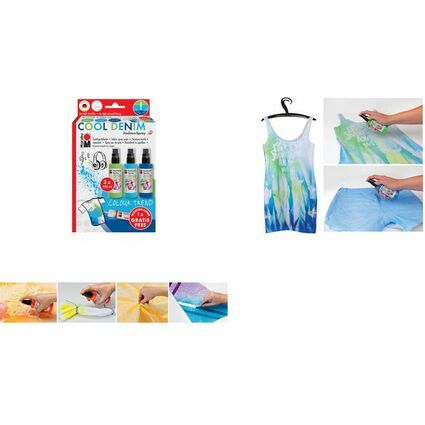 "Marabu Textilsprühfarbe ""Fashion-Spray"", Set COOL DENIM"