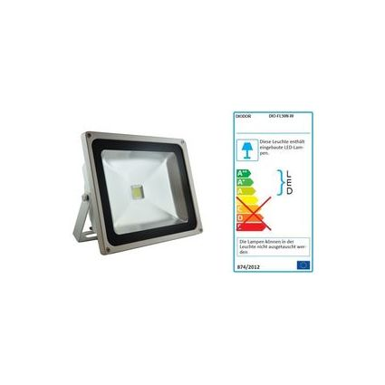 DIODOR LED Flutlichtstrahler Outdoor, 50 Watt, weiß