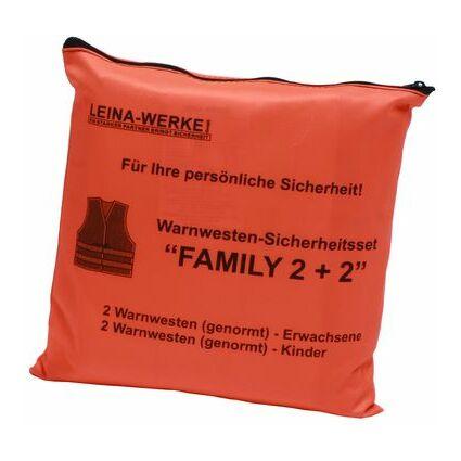 "Leina Pannenwesten/Warnwesten-Set ""Family 2+2"", orange"