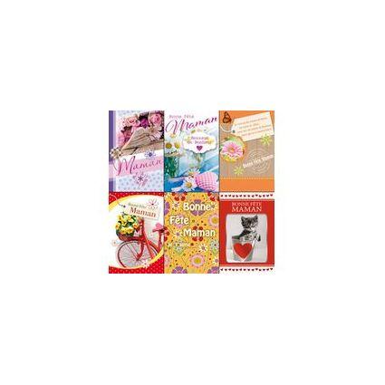 WEIGERT Cartes de voeux, Bonne Fête Maman, lot de 6 cartes