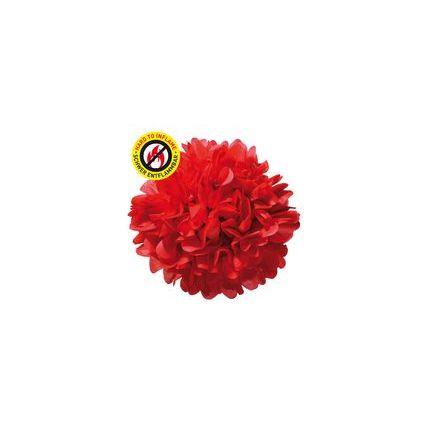 SUSY CARD Deko-Pompom, rot, aus Papier