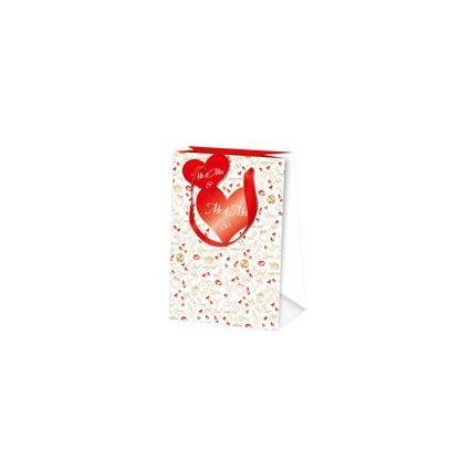 """SUSY CARD Hochzeits-Geschenktüte """"Just married"""", klein"""