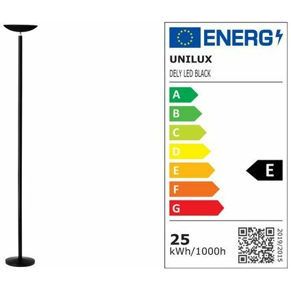 unilux LED Energiespar-Stehleuchte DELY, Farbe: chrom