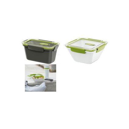 emsa Mikrowellendose BENTO BOX, 1,50 Liter, grau/orange