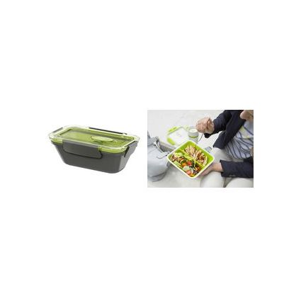 emsa Mikrowellendose BENTO BOX, 0,50 Liter, weiß/grün