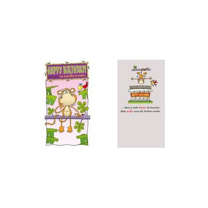 "SUSY CARD Geburtstagskarte - Humor ""Affe mit Wackelaugen"""