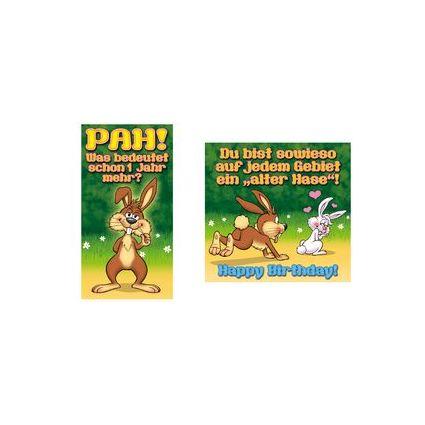 "SUSY CARD Geburtstagskarte - Humor ""Alter Hase"""