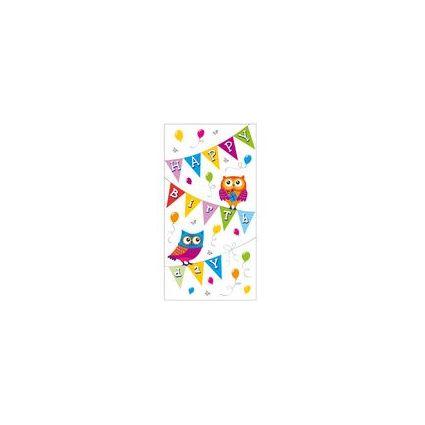 "SUSY CARD Geburtstagskarte ""Wimpel Eulen"""