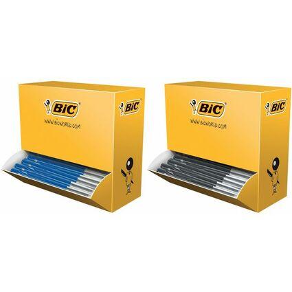 BIC Druckkugelschreiber M10 clic, blau, VALUE PACK