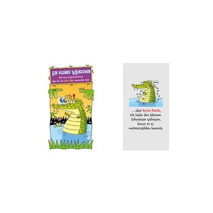 """SUSY CARD Geburtstagskarte - Humor """"Krokodil"""""""