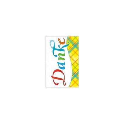 """SUSY CARD Danksagungskarten - Allgemein """"Patchworkstil"""""""