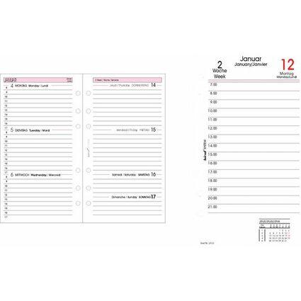bind-Kalender 2017 für bind-Terminplaner A6, Modell 10603