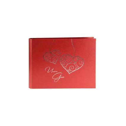 "goldbuch Gästespiralbuch ""Two Hearts"", 50 Seiten, blau"