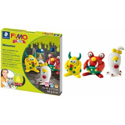 "FIMO kids Modellier-Set Form & Play ""Monster"", Level 1"
