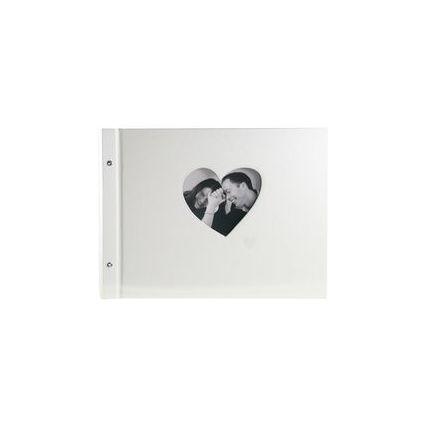 """goldbuch Schraubalbum """"Chromo"""", 40 Seiten, beige, Herz"""