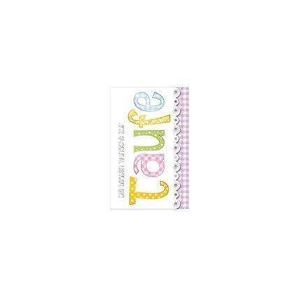 """SUSY CARD Taufkarte für Geldschein """"Patchworkstil"""""""