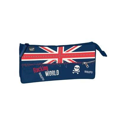 QUO VADIS Stifte-Tasche Union Jack, schwarz