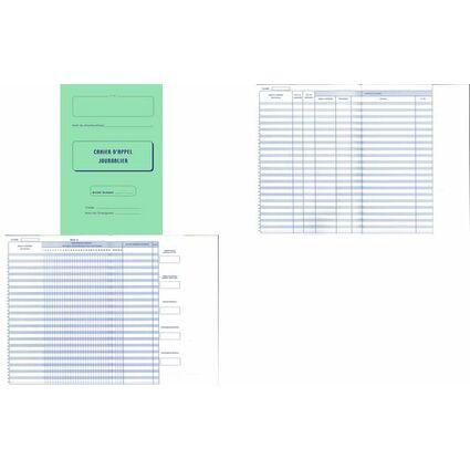 ELVE Registre d'appel journalier, piqûre 28 pages, 40 élèves