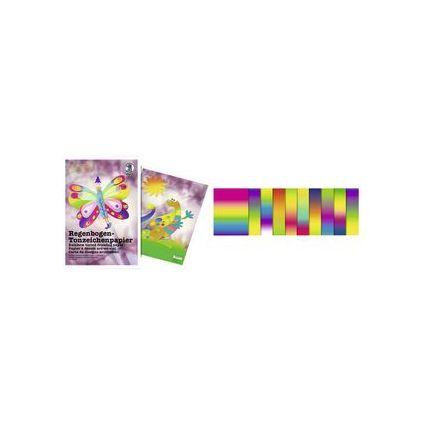 URSUS Regenbogen-Tonpapier-Bastelmappe, (B)230 x (H)330 mm