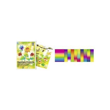 URSUS Regenbogen-Fotokarton-Bastelmappe, (B)230 x (H)330 mm