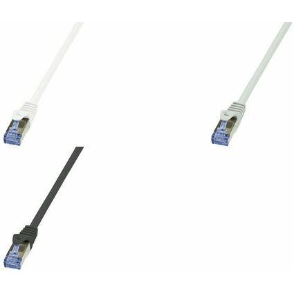 LogiLink Patchkabel PrimeLine, Kat. 6A, S/FTP, 15,0 m, grau