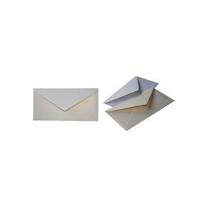 KNORR prandell Briefumschlag, DIN lang, metallic perlweiß