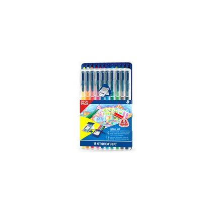 STAEDTLER Dreikant-Buntstift ergosoft & Fasermaler triplus