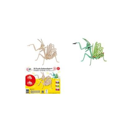 "mara by Marabu 3D Puzzle ""Gottesanbeterin"", 25 Holzteile"