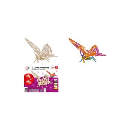 "mara by Marabu 3D Puzzle ""Schmetterling"", 16 Holzteile"