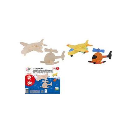 "mara by Marabu 3D Puzzle Duo ""Hubschrauber & Flugzeug"""