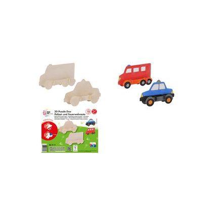 "mara by Marabu 3D Puzzle Duo ""Polizei- & Feuerwehrauto"""
