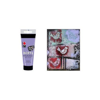 """Marabu Pastell-Acrylpaste """"ACRYL MOUSSE"""", 100 ml, lavendel"""