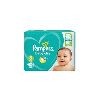 Pampers Windeln baby-dry Größe 3 Midi, 5-9 kg, Sparpack