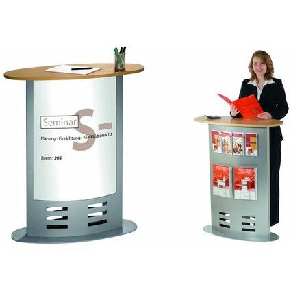 kerkmann Theke Counter tec-art, Metallkorpus,alusilber/buche