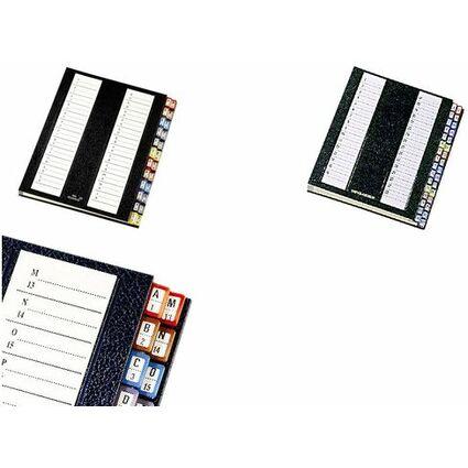 emey Pultordner Serie 11, DIN A4, 24 Fächer, schwarz