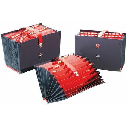 extendos Fächertasche, 31 Fächer, numerisch 1 - 31, schwarz