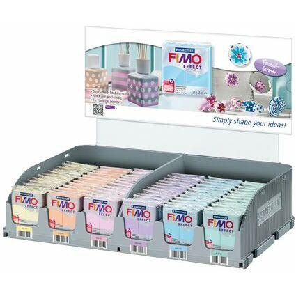 FIMO EFFECT Modelliermasse, Pastellfarben, 72er Display