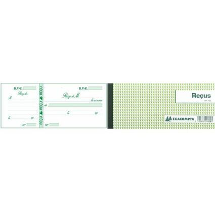 "EXACOMPTA Carnet à souche ""Reçus"", 90 x 130 mm horizontal"