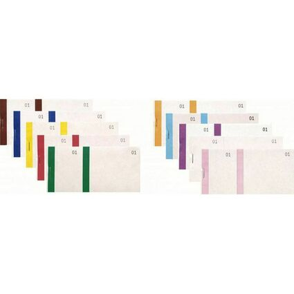 EXACOMPTA Bloc vendeur, 66 x 135 mm, couleurs assorties