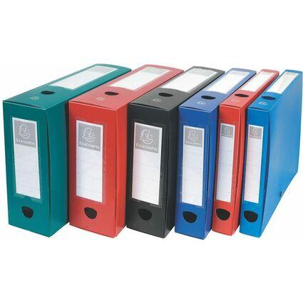 EXACOMPTA Archivbox mit Druckknopf, PP, 60 mm, blau