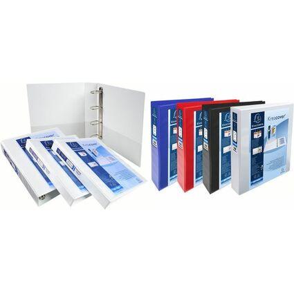 EXACOMPTA Präsentations-Ringbuch, A4, schwarz, 4D-Ring