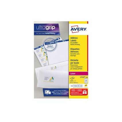 AVERY Étiquettes Adresses, 99,1 x 57 mm, blanc