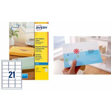 AVERY Étiquettes Adresse jet d'encre, 63,5 x 38,1 mm,