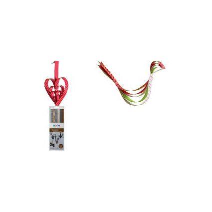 HEYDA Papier-Faltstreifen, rosa/rot, 130 g/qm