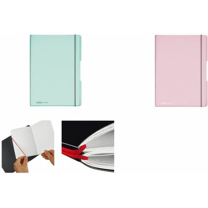 herlitz Notizheft my.book flex Pastell, A4, PP-Cover, minze-