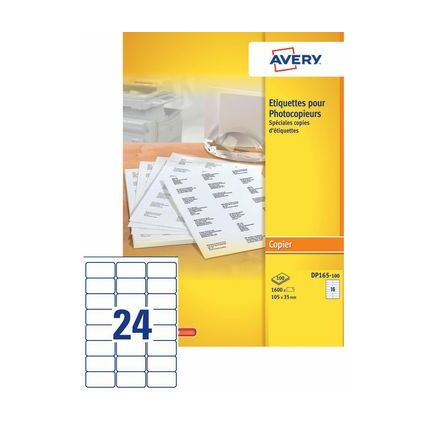 AVERY Étiquettes pour photocopieur, 70 x 35 mm, blanc